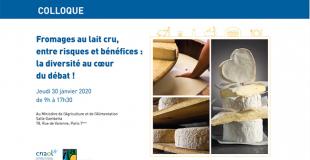 Colloque sur les fromages au lait cru 30 janvier 2020