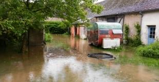 Les inondations ont aussi touché la ferme de la Guilbardière