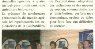 Prix de la Dynamique Agricole du Loir-et-Cher pour la ferme de la Guilbardière