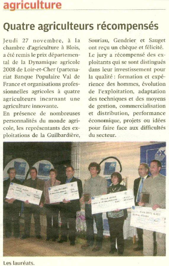 Prix de la Dynamique Agricole du Loir-et-Cher