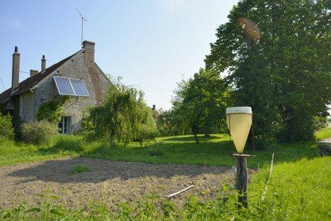 La ferme avec ses panneaux solaires